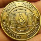 Large 38.1mm Solid Bronze Grand Lodge Of Pennsylvania 1998 Masonic Medallion~F/S