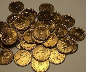 Unc Roll (50 Coins) Great Britain 1979 Half Penny's~Elizabeth II~Free Shipping