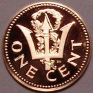 Rare Proof Barbados 1976 Cent~10th Anniversry Of Independence~12,000 Minted~Fr/S