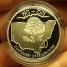 Cameo Proof Australia 2001 20 Cents~Centenary Of Federation~New South Wales~Fr/S