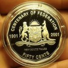 Cameo Proof Australia 2001 50 Cents~Centenary Of Federation~New South Wales~Fr/S