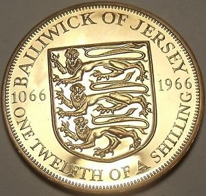Rare Proof Jersey 1966 1/12th of a Shilling~Only 30,000 Minted~Fantastic~Free Sh