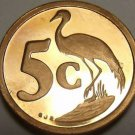 Rare Proof South Africa 1997 5 Cents~Only 3,596 Minted~Blue Crane~Free Shipping