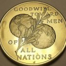Franklin Mint 39.5mm Peace On Earth Goodwill Tword Men~All Nations~Medallion~F/S