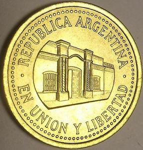 Gem Unc Argentina 1994 50 Centavos~Tucuman Province Capital Building~Free Ship