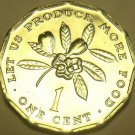 Gem Unc Jamaica 1977 F.A.O. Cent~Let Us Produce More Food~12-Sided~Free Shipping
