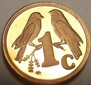 Rare Proof South Africa 1997 Cent~Only 3,596 Minted~Sparrows~Free Shipping
