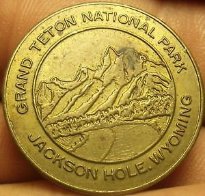 Grand TeTon National Park Jackson Hole Wyoming Lucky Coin~Free Shipping
