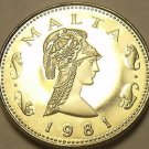 Rare Proof Malta 1981 2 Cents~Penthesilea, Queen of the Amazons~1,453 Minted~F/S