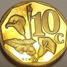 Rare Proof South Africa 1997 10 Cents~Only 3,596 Minted~Arum Lily~Free Shipping