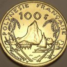 Rare Large Gem Unc French Polynesia 2003 100 Francs~200k Minted~Moorea Harbor~FS