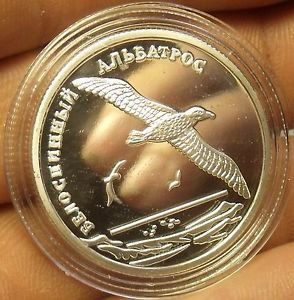 Fantasy Silver-Plated Proof Russia 2010 2 Roubles~Short Tailed Albatross~Fr/Ship