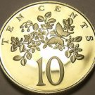 Extremely Rare Proof Jamaica 1981 10 Cents~1,577 Minted~Butterfly~Free Shipping