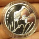 Fantasy Silver-Plated Proof Russia 2014 2 Roubles~Glossy Ibis~Free Shipping
