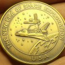 39.1mm Gem Unc Solid Bronze Columbia The Gem Of The Galaxy Medallion~Free Ship