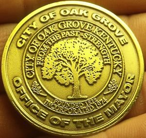 Gem Unc Oak Grove Kentucky War Memorial Walking Trail Medallion~38.5mm~Free Ship