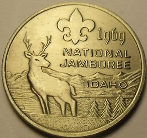 Gem Unc Boy Scouts National Jamboree 1964 Medallion~Farragut Park Idaho~Fr/Ship
