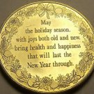 Gem Unc 38.6mm Holiday Season Very Detailed Medallion~Fantastic~Free Shipping