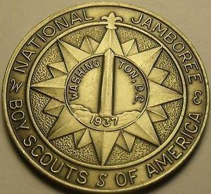 Gem Unc Boy Scouts National Jamboree 1937 Medallion~Washington D.C.~Free Ship