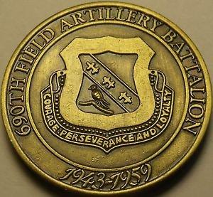 Solid Bronze U.S. Army 690th Field Artillery Battalion Medallion~Awesome~Fr/Ship