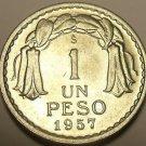 Chile 1957 Peso Unc