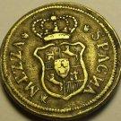 Italy Mezza Spagna Brass Coin~13.3 Grams 26mm~Free Ship
