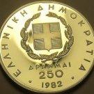 Silver Proof Greece 1982 250 Drachmai~European Games~Shot Put~Free Shipping