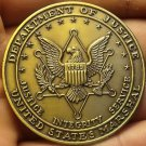 Department Of Justice United States Marshal 44.8mm Unc Medallion~Bronze~Free Shi
