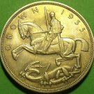Great Britain 1935 Silver Crown~Incuse Edge Incription~