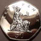 Great Britain 1974 50 Pence Proof~Britannia~Scarce