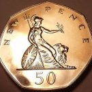 Great Britain 1975 50 New Pence Proof~100,000 Minted~Scarce