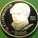 Cameo Proof Russia 1989 Rouble~175th Anniversary - Birth of M.Y. Lermontov