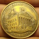 Tallahassee Florida State Capitol Solid Bronze Medallion 39mm~The Great Seal~