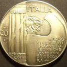 Rare Silver Fantasy Italy 1928-R 20 Lire~10th Anniversary - End of World War1