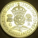 Great Britain 1940 2 Shillings Silver Unc~Crowned Tudor Rose~Thistle~Free Ship