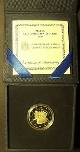 Malta 2013 Commemorative 2 Euros Bi-Metal Proof With C.O.A.~7,500 Minted~Fr/Ship