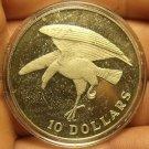 Singapore 1974 10 Dollars Rare Silver Proof~Eagle Landing~6,000 Minted~Free Ship