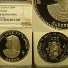 Guinea 1970 500 Francs~NGC PF-68 ULTRA CAMEO~Cleopatra~Highest Graded~Rare~Fr/Sh