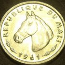 Mali 1961 10 Francs Gem Unc~Horse~Only Year Minted~Free Shipping