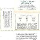 1971 Trinidad & Tobago 7 Coin 4 Piece C.O.A. And Document Set~Free Shipping