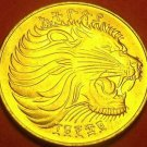 Ethiopia EE1969 (1977) 10 Cents Unc~Excellent~Only Year Ever~Lion Coin~Fr/Ship