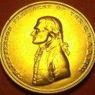 Gem Unc Thomas Jefferson Presidential Bronze Inauguration Medallion~Free Ship
