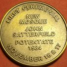 First Ceremonial New Mosque Jacksonville Florida Solid Bronze Medallion~Free Shi