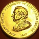 Gem Unc Zachary Taylor Presidential Bronze Inauguration Medallion~Free Ship