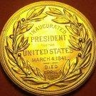 Gem Unc Willam H. Harrison Presidential Bronze Inauguration Medallion~Free Ship