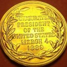 Gem Unc Benjamin Harrison Presidential Bronze Inauguration Medallion~Free Ship