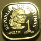 Philippines 1975 Sentimo Proof~37,000 Minted~Square Coin~Free Shipping
