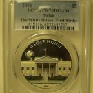 Palau 2016 White House $5.00~FIRST STRIKE PCGS PR-70 DCAM~Free Shipping