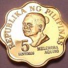 Philippines 1977 5 Sentimos Proof~4,822 Minted~Scalloped~Melchora Aquino~Fr/Ship