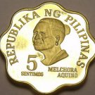 Philippines 1979 5 Sentimos Proof~3,645 Minted~Scalloped~Melchora Aquino~Fr/Shi